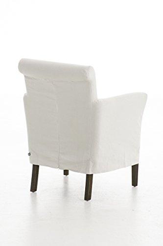 CLP Polster-Sessel VIVIAN mit Husse (abnehmbar), Sitzhöhe 44 cm, mit Armlehnen Beige