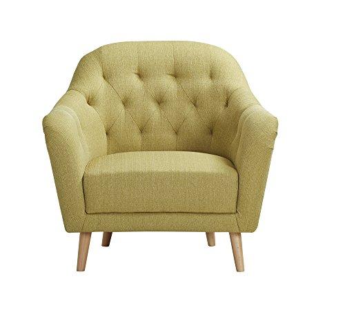 CLP Polster-Sessel LOVIS mit Stoffbezug, stilvolle Ziernähte und dicke Polsterung, langlebiger Sitzkomfort, FARBWAHL Grün