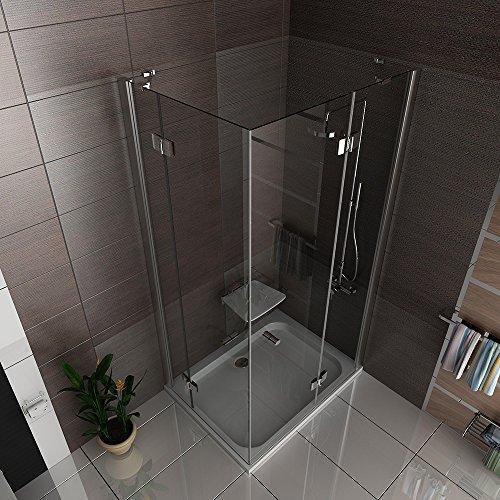 hochwertige eckeinstieg duschkabine mit nano beschichtung. Black Bedroom Furniture Sets. Home Design Ideas