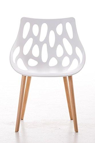 clp design retro stuhl hailey max belastbar bis 150 kg materialmix kunststoff buchenholz. Black Bedroom Furniture Sets. Home Design Ideas