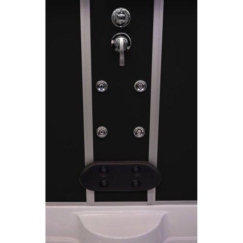 Home Deluxe Diamond schwarz Duschtempel, inkl. Whirlpool und Dampfsauna