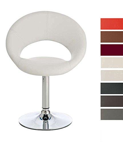 CLP Lounge Dreh-Sessel CATANIA, Kunstleder-Bezug, Sitzhöhe 48 cm Weiß