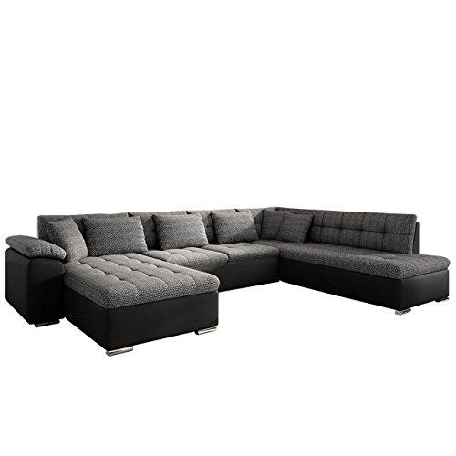 Eckcouch Ecksofa Niko Bis! Design Sofa Couch! mit Schlaffunktion und Bettkasten! U-Sofa Große Farbauswahl! Wohnlandschaft vom Hersteller (Ecksofa Links, Soft 011 + Majorka 03)