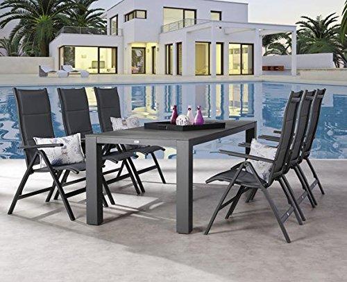 Gartengarnitur Gartengruppe 7-tlg Garten-Set Gartenmöbel Gartenmöbelset modern