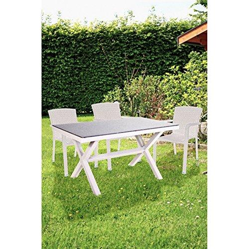 Gartenset Garten Sitzgruppe 7tlg Stapelstuhl Essgruppe Terrasse Tisch Stuhl