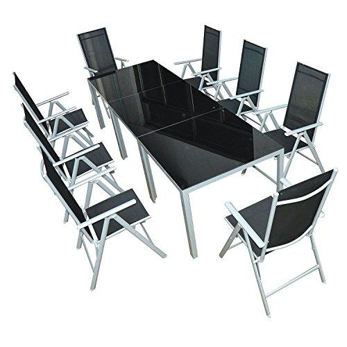 Outsunny® Gartenmöbel-Set Gartengarnitur Sitzgruppe Alu klappbar (11-tlg)