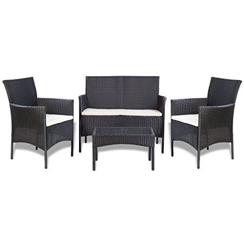 vidaXL Poly Rattan Lounge Set 7-tlg. Gartenmöbel Sitzgruppe Gartengarnitur Sofa