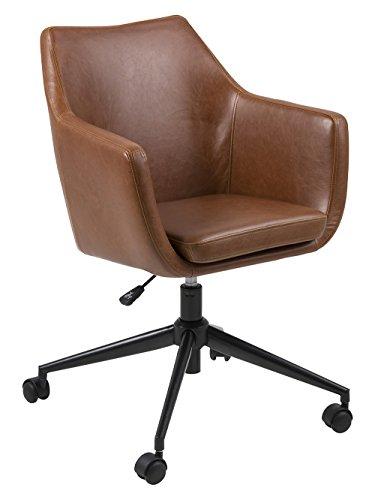 AC Design Furniture Trine Stuhl, Lederimitat, Cognac, 58 x 58 x 95 cm