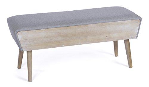 ts-ideen Landhaus Flurbank in grau Bad Sofa Sitzbank aus Holz im Shabby Look Used Style 100 cm