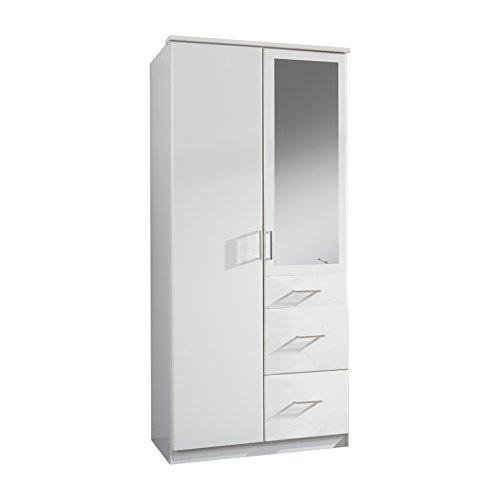 Wimex Kleiderschrank/ Drehtürenschrank Click, (B/H/T) 90 x 199 x 58 cm, Weiß