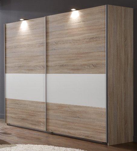 Wimex Kleiderschrank/ Schwebetürenschrank Alina, 2 Türen, (B/H/T) 210 x 65 x 225 cm, Eiche Sägerau
