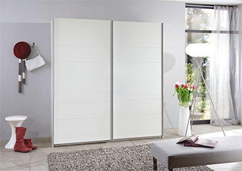 Wimex Kleiderschrank/ Schwebetürenschrank Chess, 2 Türen, (B/H/T) 180 x 198 x 64 cm, Weiß