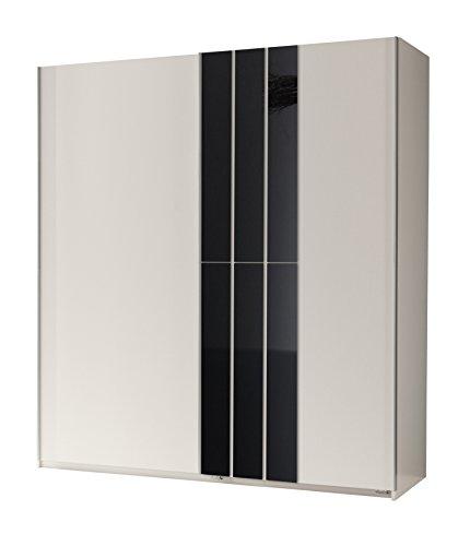 Wimex Kleiderschrank/ Schwebetürenschrank Köln, (B/H/T) 180 x 198 x 64 cm, Weiß/Absetzung Schwarz