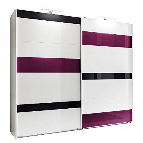 Wimex Kleiderschrank/ Schwebetürenschrank Mondrian, 2 Türen, (B/H/T) 270 x 210 x 65 cm, Weiß