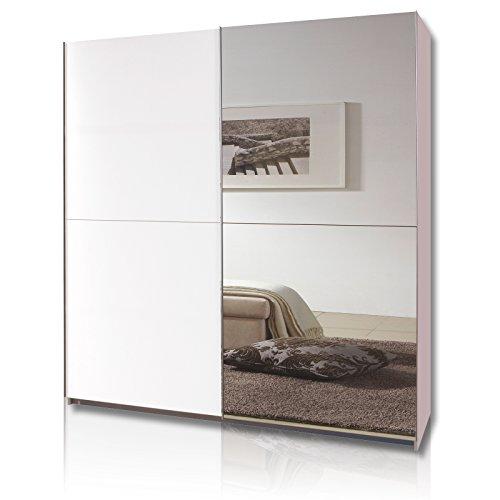 Wimex Kleiderschrank/ Schwebetürenschrank Queen, 2 Türen, (B/H/T) 180 x 198 x 64 cm, Weiß