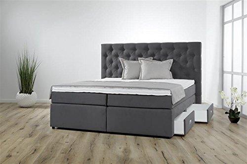 Breckle Boxspringbett 140 x 200 cm Lerche Box Miodormio TFK 1000 Formschaummatratze My Balance 20 Topper Gel Premium Comfort