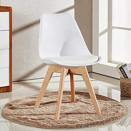 P&N Homewares Lorenzo Esstisch und 4 Stühle Set Retro und Modern Dining Set Weiß Schwarz und Grau Stühle mit weißen Esstisch skandinavisch (WEISSE STÜHLE)