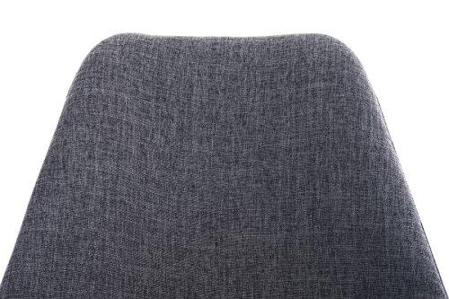 CLP Design Retro-Stuhl PEGLEG SQUARE mit Stoffbezug   Gepolsterter Schalenstuhl mit Holzbeinen und einer Sitzhöhe von: 46 cm   In verschiedenen Farben erhältlich Hellgrau, Holzgestell Farbe weiß, Bein-Form eckig