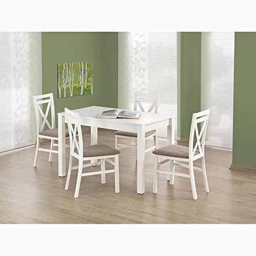 JUSTyou Ksawery Esszimmertisch Küchentisch Esstisch Weiß (LxBxH): 120x68x76 cm