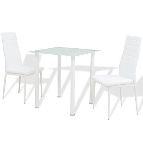 vidaXL 3tlg. Essgruppe Sitzgruppe Tischset Esszimmer Esstisch Stühle Kunstleder