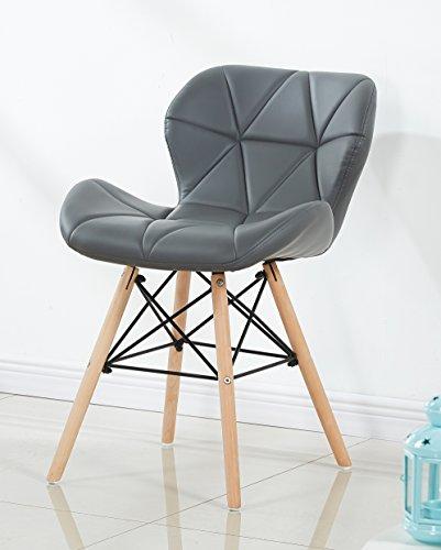 P & N Homewares® Cecilia Eiffel millmead inspiriert Stuhl aus Kunststoff Retro Weiß Schwarz Grau Rot Esszimmerstuhl Büro Stuhl Lounge grau