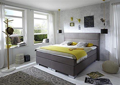 Breckle Boxspringbett 140 x 200 cm Castillo Box Stauraum 1000 TFK Big Topper Gel Premium Comfort