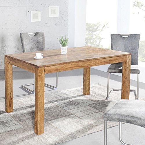CAGÜ Design ESSTISCH [SATNA] aus SHEESHAM Massiv Holz Gewachst 120cm x 80cm, Neu!