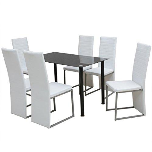vidaXL Essgruppe Esstisch 6 Stühlen Esszimmerstuhl Tisch Sitzgruppe Sitzgarnitur