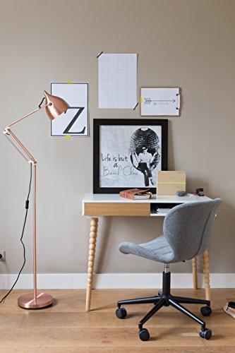 Zuiver 1300001 Office Stuhl OMG, Stoff, Schwarz/Grau, 65 x 65 x 88 cm