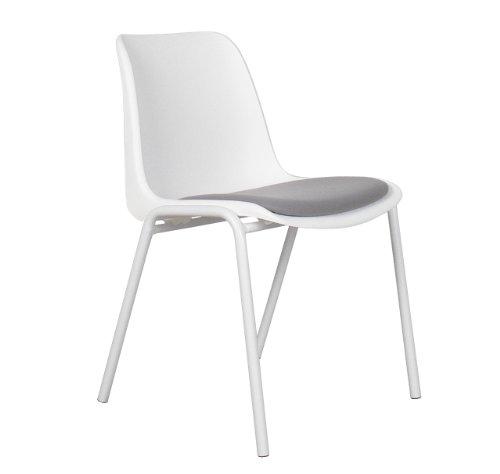 Zuiver - Stuhl Back to GYM Weiß/Grau