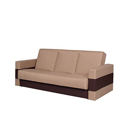 Mirjan24 Elegantes Sofa Gordia, Couch mit Bettfunktion, Polstersofa mit Bettkasten und Schlaffunktion, Bettsofa (Soft 066 + Lux 02)
