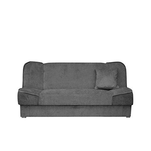 Mirjan24 Schlafsofa Gemini mit Bettkasten, 3 Sitzer Sofa, Couch mit Schlaffunktion, Bettsofa Schlafsofa Polstersofa Farbauswahl Couchgarnitur (Orinoco 96)
