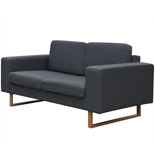 vidaXL Sofa Polstersofa 2-Sitzer Stoffsofa Loungesofa Couch Wohnzimmer Möbel