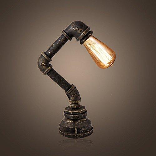 MoMo Kreative Rohr Tischlampe, Vintage Bar Couchtisch Lampe Studie Nachttischlampe, Eisen Schreibtischlampe,* 1 *